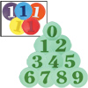 Numbered (0-9) Poly Spots in Colors
